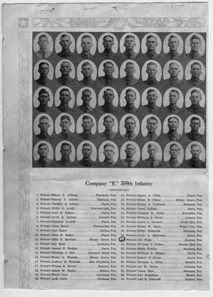 [Company E. 359th Infantry Division listing, front page]