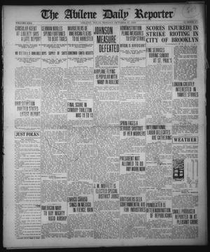 Primary view of object titled 'The Abilene Daily Reporter (Abilene, Tex.), Vol. 22, No. 275, Ed. 1 Monday, October 27, 1919'.