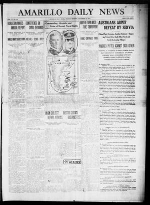 Primary view of object titled 'Amarillo Daily News (Amarillo, Tex.), Vol. 6, No. 36, Ed. 1 Tuesday, December 15, 1914'.