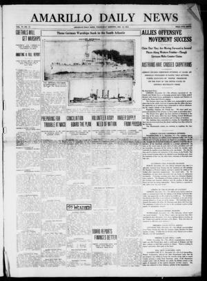 Primary view of object titled 'Amarillo Daily News (Amarillo, Tex.), Vol. 6, No. 37, Ed. 1 Wednesday, December 16, 1914'.