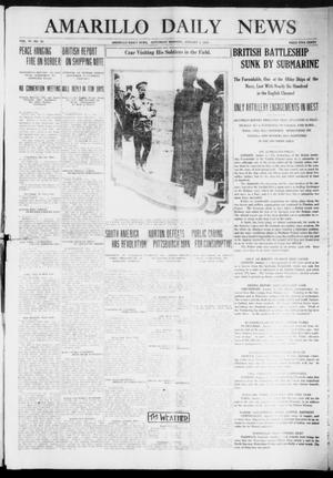 Primary view of object titled 'Amarillo Daily News (Amarillo, Tex.), Vol. 6, No. 52, Ed. 1 Saturday, January 2, 1915'.