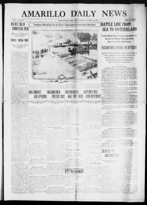 Primary view of object titled 'Amarillo Daily News (Amarillo, Tex.), Vol. 6, No. 69, Ed. 1 Friday, January 22, 1915'.