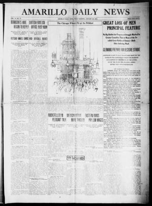 Primary view of object titled 'Amarillo Daily News (Amarillo, Tex.), Vol. 6, No. 75, Ed. 1 Friday, January 29, 1915'.