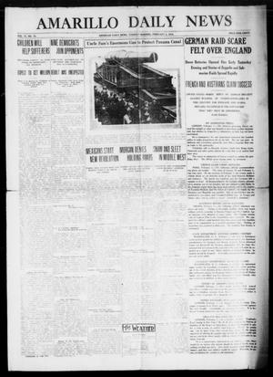 Primary view of object titled 'Amarillo Daily News (Amarillo, Tex.), Vol. 6, No. 78, Ed. 1 Tuesday, February 2, 1915'.