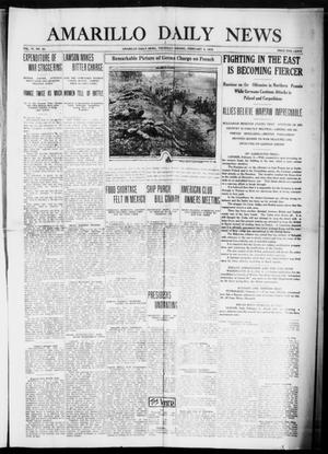 Primary view of object titled 'Amarillo Daily News (Amarillo, Tex.), Vol. 6, No. 80, Ed. 1 Thursday, February 4, 1915'.