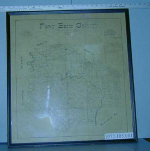 "[Map of Fort Bend County ""General Land Office""  March 1893.]"
