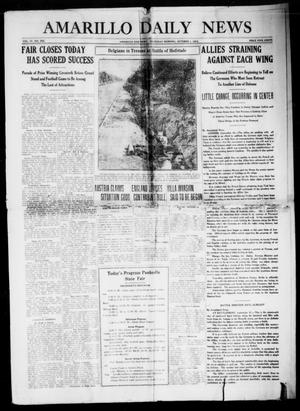 Primary view of object titled 'Amarillo Daily News (Amarillo, Tex.), Vol. 4, No. 285, Ed. 1 Thursday, October 1, 1914'.