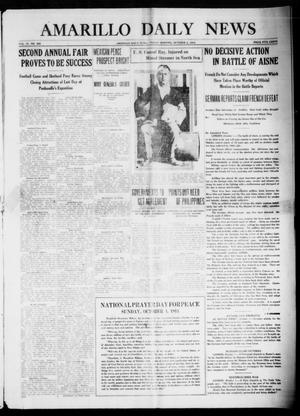 Primary view of object titled 'Amarillo Daily News (Amarillo, Tex.), Vol. 4, No. 286, Ed. 1 Friday, October 2, 1914'.