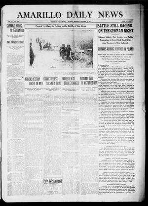 Primary view of object titled 'Amarillo Daily News (Amarillo, Tex.), Vol. 4, No. 288, Ed. 1 Sunday, October 4, 1914'.
