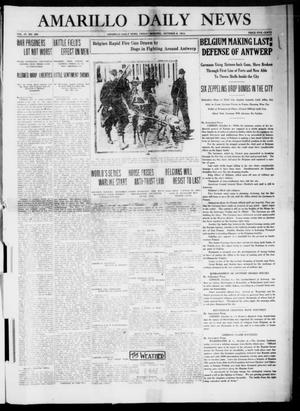 Primary view of object titled 'Amarillo Daily News (Amarillo, Tex.), Vol. 4, No. 292, Ed. 1 Friday, October 9, 1914'.