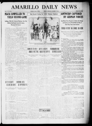 Primary view of object titled 'Amarillo Daily News (Amarillo, Tex.), Vol. 4, No. 294, Ed. 1 Sunday, October 11, 1914'.