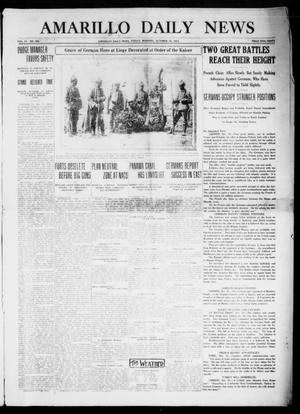 Primary view of object titled 'Amarillo Daily News (Amarillo, Tex.), Vol. 4, No. 298, Ed. 1 Friday, October 16, 1914'.