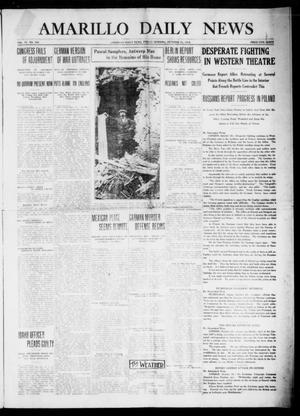 Primary view of object titled 'Amarillo Daily News (Amarillo, Tex.), Vol. 4, No. 304, Ed. 1 Friday, October 23, 1914'.