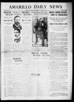 Primary view of object titled 'Amarillo Daily News (Amarillo, Tex.), Vol. 4, No. 309, Ed. 1 Thursday, October 29, 1914'.