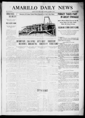 Primary view of object titled 'Amarillo Daily News (Amarillo, Tex.), Vol. 4, No. 310, Ed. 1 Friday, October 30, 1914'.