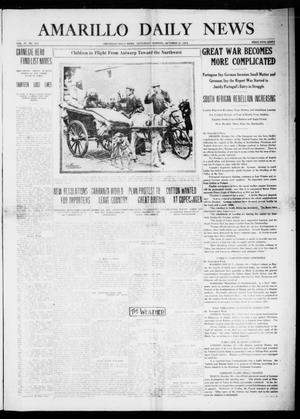Primary view of object titled 'Amarillo Daily News (Amarillo, Tex.), Vol. 4, No. 311, Ed. 1 Saturday, October 31, 1914'.
