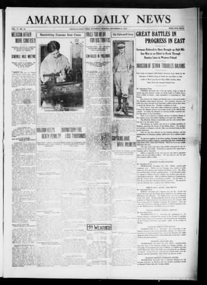Primary view of object titled 'Amarillo Daily News (Amarillo, Tex.), Vol. 6, No. 16, Ed. 1 Saturday, November 21, 1914'.