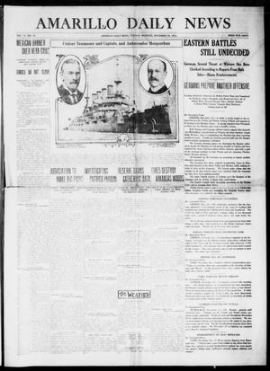 Primary view of object titled 'Amarillo Daily News (Amarillo, Tex.), Vol. 6, No. 18, Ed. 1 Tuesday, November 24, 1914'.