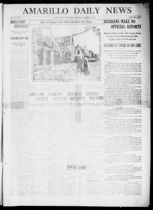 Primary view of object titled 'Amarillo Daily News (Amarillo, Tex.), Vol. 6, No. 21, Ed. 1 Friday, November 27, 1914'.