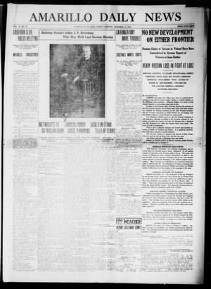 Primary view of object titled 'Amarillo Daily News (Amarillo, Tex.), Vol. 6, No. 35, Ed. 1 Sunday, December 13, 1914'.