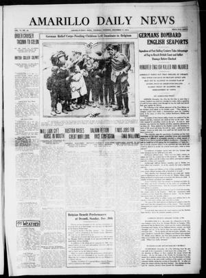 Primary view of object titled 'Amarillo Daily News (Amarillo, Tex.), Vol. 6, No. 38, Ed. 1 Thursday, December 17, 1914'.