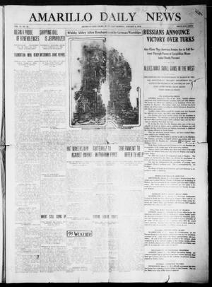Primary view of object titled 'Amarillo Daily News (Amarillo, Tex.), Vol. 6, No. 55, Ed. 1 Wednesday, January 6, 1915'.