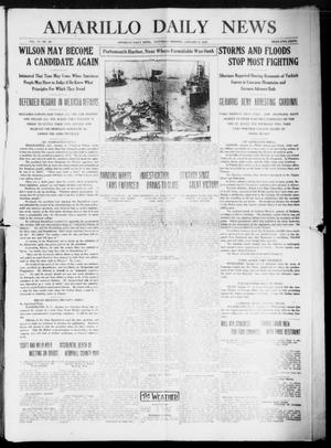 Primary view of object titled 'Amarillo Daily News (Amarillo, Tex.), Vol. 6, No. 58, Ed. 1 Saturday, January 9, 1915'.