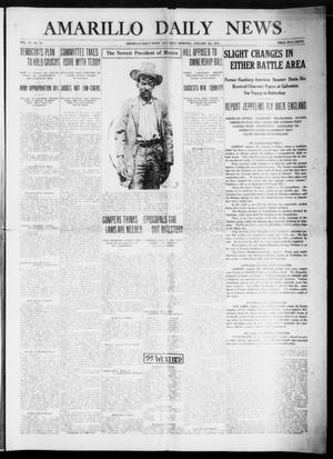 Primary view of object titled 'Amarillo Daily News (Amarillo, Tex.), Vol. 6, No. 70, Ed. 1 Saturday, January 23, 1915'.