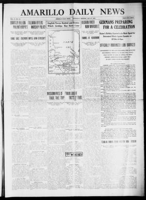 Primary view of object titled 'Amarillo Daily News (Amarillo, Tex.), Vol. 6, No. 73, Ed. 1 Wednesday, January 27, 1915'.