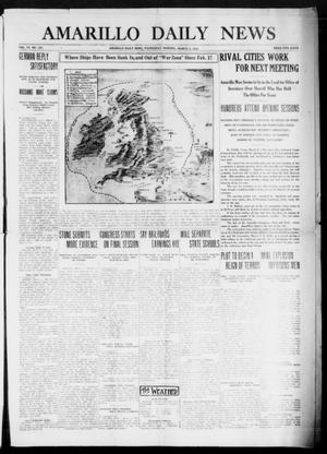Primary view of object titled 'Amarillo Daily News (Amarillo, Tex.), Vol. 6, No. 103, Ed. 1 Wednesday, March 3, 1915'.