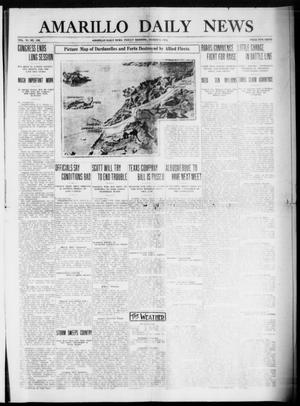 Primary view of object titled 'Amarillo Daily News (Amarillo, Tex.), Vol. 6, No. 105, Ed. 1 Friday, March 5, 1915'.
