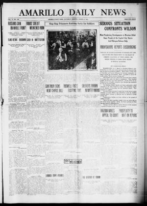 Primary view of object titled 'Amarillo Daily News (Amarillo, Tex.), Vol. 6, No. 106, Ed. 1 Saturday, March 6, 1915'.