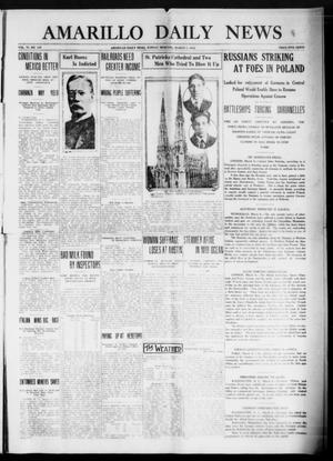 Primary view of object titled 'Amarillo Daily News (Amarillo, Tex.), Vol. 6, No. 107, Ed. 1 Sunday, March 7, 1915'.