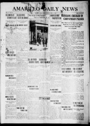 Primary view of object titled 'Amarillo Daily News (Amarillo, Tex.), Vol. 4, No. 137, Ed. 1 Sunday, April 11, 1915'.