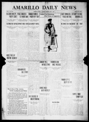 Primary view of object titled 'Amarillo Daily News (Amarillo, Tex.), Vol. 4, No. 154, Ed. 1 Saturday, May 1, 1915'.
