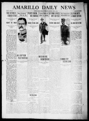 Primary view of object titled 'Amarillo Daily News (Amarillo, Tex.), Vol. 6, No. 181, Ed. 1 Wednesday, June 2, 1915'.
