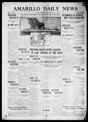 Primary view of object titled 'Amarillo Daily News (Amarillo, Tex.), Vol. 6, No. 258, Ed. 1 Sunday, August 29, 1915'.