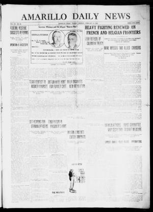 Primary view of object titled 'Amarillo Daily News (Amarillo, Tex.), Vol. 7, No. 88, Ed. 1 Tuesday, February 15, 1916'.