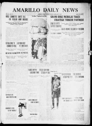 Primary view of object titled 'Amarillo Daily News (Amarillo, Tex.), Vol. 7, No. 90, Ed. 1 Thursday, February 17, 1916'.