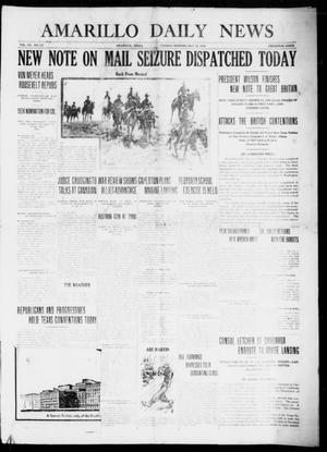 Primary view of object titled 'Amarillo Daily News (Amarillo, Tex.), Vol. 7, No. 172, Ed. 1 Tuesday, May 23, 1916'.