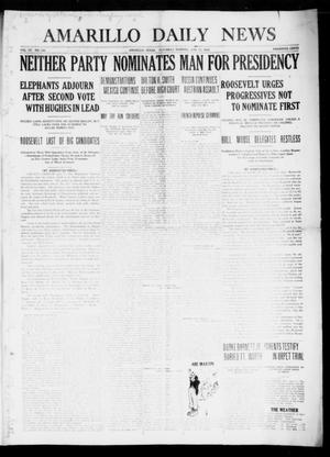 Primary view of object titled 'Amarillo Daily News (Amarillo, Tex.), Vol. 7, No. 188, Ed. 1 Saturday, June 10, 1916'.