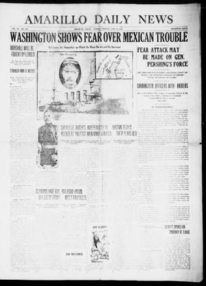 Primary view of object titled 'Amarillo Daily News (Amarillo, Tex.), Vol. 7, No. 190, Ed. 1 Tuesday, June 13, 1916'.