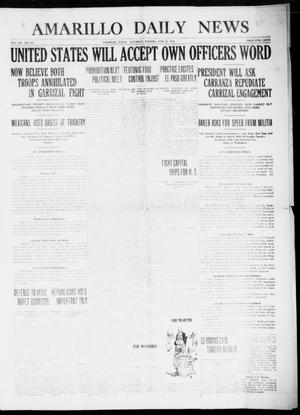 Primary view of object titled 'Amarillo Daily News (Amarillo, Tex.), Vol. 7, No. 200, Ed. 1 Saturday, June 24, 1916'.