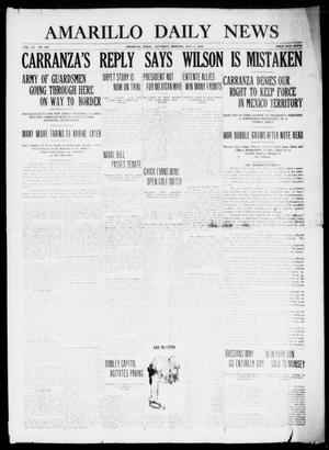 Primary view of object titled 'Amarillo Daily News (Amarillo, Tex.), Vol. 7, No. 206, Ed. 1 Saturday, July 1, 1916'.