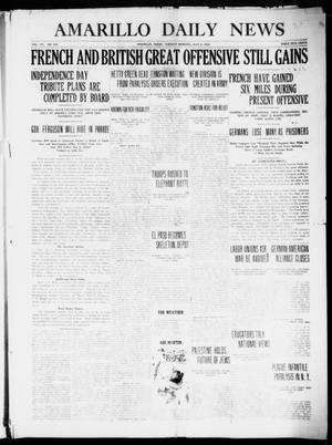 Primary view of object titled 'Amarillo Daily News (Amarillo, Tex.), Vol. 7, No. 208, Ed. 1 Tuesday, July 4, 1916'.