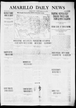 Primary view of object titled 'Amarillo Daily News (Amarillo, Tex.), Vol. 7, No. 213, Ed. 1 Thursday, July 13, 1916'.