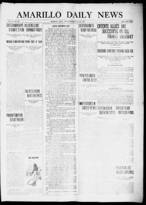 Primary view of object titled 'Amarillo Daily News (Amarillo, Tex.), Vol. 7, No. 220, Ed. 1 Tuesday, July 18, 1916'.