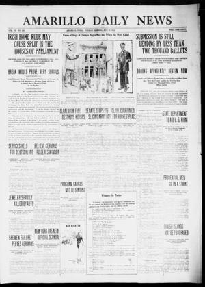 Primary view of object titled 'Amarillo Daily News (Amarillo, Tex.), Vol. 7, No. 226, Ed. 1 Tuesday, July 25, 1916'.