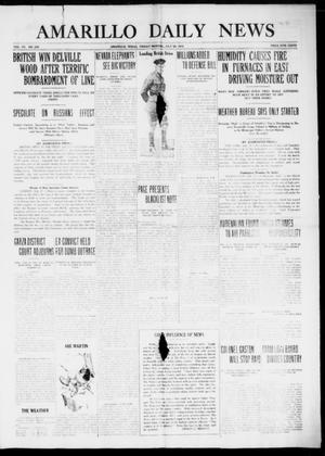 Primary view of object titled 'Amarillo Daily News (Amarillo, Tex.), Vol. 7, No. 229, Ed. 1 Friday, July 28, 1916'.