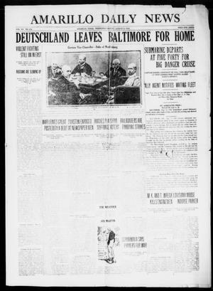 Primary view of object titled 'Amarillo Daily News (Amarillo, Tex.), Vol. 7, No. 233, Ed. 1 Wednesday, August 2, 1916'.